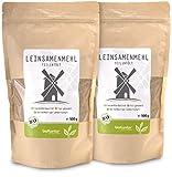bioKontor // Leinsamenmehl BIO 1000 g (2x 500g) Leinmehl - teilentölt, low carb, enthält Omega-3-Fettsäuren