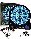 Turnart Dartscheibe Elektronisch Dartscheibe Elektronische Dartscheibe E Dartscheibe mit LED Beleuchteten Ziffern,Dartscheibe Elektronisch Profi,6 Dartpfeile Soft,Elektronik Dartboard