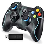 EasySMX PS3 Controller, 2,4G Wireless Gamepad, Joysticks Dual Vibration Turbo für PS3 /Windows-PC/Android TV Box (Tarnung)