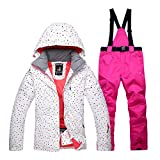 shewt Skianzug für Frauen Tops und Hosen Set für Damen Warmer Damen Schneeanzug(Bitte passende Größe gemäß Größentabelle auswählen)
