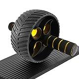 Best Goods Bauchroller für Bauchmuskeltraining | Ab Roller, Ab Wheel, Abdominal Roller für Bauchmuskeln und Fitness | mit Kniematte