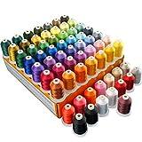 New brothread 64 Spulen 1000M (1100Y) Polyester Maschinen Stickgarn für professionelle Stickereien Enthusiasten und Anfänger
