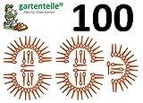 gartenteile 100 Kunststoffmesser passend für Bosch ALM28 Luftkissen Rasenmäher Messer Luftkissenmäher Ersatzmesser
