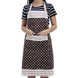 Veewon Damen Küchenschürze mit Taschen Restaurant Flirty Schürzen für Damen Koch, Cupcake, Cafe und Kellnerin (Kaffee)