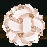 IQ Puzzle Lampe Grösse L Set 30 Puzzleteile ca. 30cm im Durchmesser Mehr Farbe (Weiß)