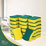 Esonmus Putzschwamm Küche 20 Stück Zweiseitig Reinigungsschwamm Fleckenentferner-Pad Für Hartnäckigen Schmutz Hygienisch Saugstark Rechteckig 10x7x3 CM