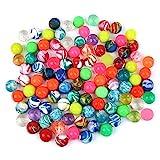 Schramm 100 Stück Flummis Bunt gemischt 20mm Flummis Springball Hüpfball Mitgebsel Tombola Kindergeburtstag 100er Pack
