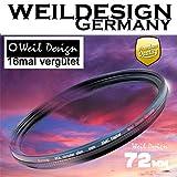 Polfilter POL 72mm Circular Slim XMC Digital Weil Design Germany SYOOP * Kräftigere Farben * Frontgewinde * 16 Fach XMC vergütet * inkl. Filterbox * zirkulare (POL Filter 72)