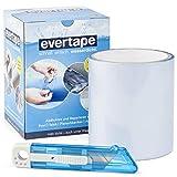 EVERFIX Evertape Reparatur Klebeband, Reparaturset, wasserdicht, Set zum Abdichten und Reparieren - auch auf nasser Fläche und unter Wasser verwendbar (7,5 cm x 100 cm) transparent