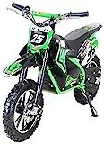 Kinder Mini Elektro Crossbike'Gepard' 500 Watt verstärkte Gabel 36 Volt Enduro Motorcrossbike Pocketbike (Grün)