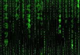 1art1 Matrix - Code, Grüner Regen, 3-Teilig Fototapete Poster-Tapete 360 x 250 cm