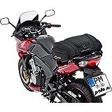 QBag Hecktasche Motorrad Motorradtasche Hecktasche 05 Motorradgepäck für Soziussitz/Gepäckträger 14-20 Liter Stauraum leichtes Be-/Entladen inkl. Regenhaube schwarz