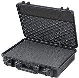 Wasserdichter Koffer für Notebook/Laptop und Zubehör | bruchfester Hartschalenkoffer mit konfigurierbarem Rasterschaumstoff