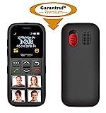 simvalley MOBILE Seniorentelefon: Senioren-Handy, Garantruf Premium, GPS-Ortung, 4 Kurzwahl-Foto-Tasten (Seniorenhandy mit Fototasten)