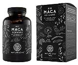 NATURE LOVE® Bio Maca Kapseln - 3000mg Bio Maca schwarz je Tagesdosis. 180 Kapseln. Mit natürlichem Vitamin C. Ohne Zusätze wie Magnesiumstearat. Zertifiziert Bio, hochdosiert, vegan, Made in Germany