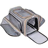 Pet-U Hundetragetasche Katzentragetasche, Faltbare Haustiertragetasche, Transporttasche Transportbox Oxford Gewebe, mit Schultergurt, für Hunden oder Katzen