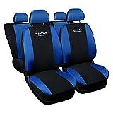 Saferide   Universal Blau Sitzbezüge Komplettset Sitzbezug für Auto Sitzschoner Set Schonbezüge Autositz Autositzbezüge Sitzauflagen Sitzschutz Tuning