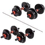 XN8 Fitness Hanteln Set Verstellbare- Hantelgewichte 15Kg-20 Kg Kurzhanteln Gewichte für Männer Frauen Workouts Schwere Hanteln für Fitnessstudio Zuhause (Schwarz, 20kg)