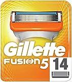 Gillette Fusion 5 Rasierklingen mit Trimmer für Präzision und Gleitbeschichtung, 14 Ersatzklingen