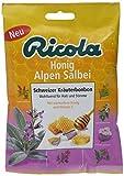 Ricola Honig Alpen Salbei, 18 Packungen Schweizer Kräuter-Bonbons mit Salbei, Pfefferminze und 11 weiteren Kräutern, mit Vitamin C gegen Husten und Heiserkeit, 1er Pack (1 x 1.35 kg)