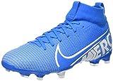 Nike Unisex-Kinder Jr Superfly 7 Academy Fg/mg Fußballschuhe, Mehrfarbig (Blue Hero/White/Obsidian 414), 35 EU