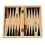 Fridolin 17685 - Gesellschaftsspiel Backgammon aus Bambus