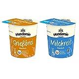 Mondamin Pots - Snack Becher Set mit den Varianten Milchreis klassich (4 Stück, 58g) und Grießbrei klassisch (4 Stück, 60g) - (8er Pack)