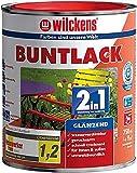 Wilckens 750 ml Buntlack 2in1 Anthrazitgrau RAL 7016 Glänzend, auf Wasserbasis