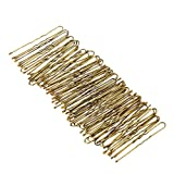 Anself 300 Stück Haarnadeln U-Form Haar clips mit Tropfen Golden 5cm Lange