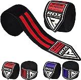 RDX Boxen Boxbandagen Wraps MMA Elastisch Handschuhe Daumenschlaufe Innenhandschuhe 4,5 Meter Muay Thai (MEHRWEG)