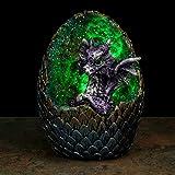 HoitoDeals Deko-Elemente, Baby-Drache, LED, Kristall, Ei, zufällige Farbe, 1 Stück