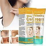 Underarm Whitening Cream, Aufhellende Creme, Whitening Cream, haut aufhellende creme, für dunkle Haut, Hals, empfindliche Bereiche, Ellenbogen, innere Oberschenkel, Knie Körper Achselhöhle Creme-60ML