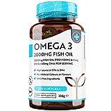 Omega 3 - Fischöl 2000 mg pro Portion - 240 Weichkapseln – Reines Fischöl – Omega 3 Kapseln Hochdosiert mit 660 mg EPA & 440 mg DHA pro Portion – Hergestellt von Nutravita