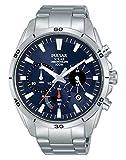 Pulsar Solar Herren-Uhr Chronograph Edelstahl mit Metallband PZ5057X1
