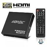 HDMI Media Player, 2 HDMI-Ausgangssplitter-Modus 1080p Full-HD Ultra-HDMI-Digital-Media-Player für -MKV / RM- HDD-USB-Laufwerke und SD-Karten