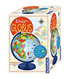 KOSMOS  673024 Kinder-Globus, ab 5 Jahren, mit Beleuchtung, Durchmesser 26  cm, Lernspielzeug für Kinder und Deko fürs Kinderzimmer