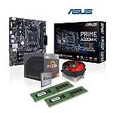 Memory PC Aufrüst-Kit AMD Ryzen 3 2200G AM4 QuadCore Summit Ridge 4X 3.6 GHz, 8 GB DDR4, ASUS Prime A320M-K, komplett fertig montiert und getestet
