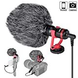 Professionelle Hi-Sensity Hi-Fidelity Mini Shotgun Video Kondensator Mikrofon Externes Mic für DSLR Kamera Camcorder Smartphone Handy iPhone für Interview Podcast Live Streaming Vlog YouTube Studio