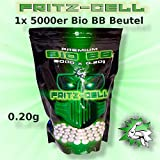 WEILAX Airsoft Softair Kugeln Fritz-Cell Premium Bio BBS 6 mm 0,20g Beutel 5000 Stück biologisch abbaubar