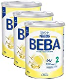 Nestlé BEBA 2 Folgemilch, Folgenahrung nach dem 6. Monat, 3er Pack (3 x 800g)