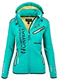 Geographical Norway Damen Softshell Funktions Outdoor Regen Jacke Sport [GeNo-24-Grün-Gr.M]