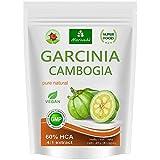 Garcinia Cambogia 90 Veggie Kapseln (4:1 Extrakt, 60% HCA) mit Kalzium, Fettblocker, Fat Blocker - garantiert frei von Trennmitteln und Stearaten (1x90)