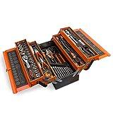 hanSe Werkzeugkiste 85 Teile Werkzeugkoffer Metallkiste Werkzeug Chrom-Vanadium