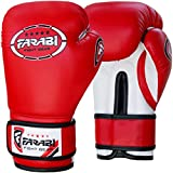 Farabi Kids Boxing Gloves Synthetic Leather for Training Punching Sparring Combat Fitness Gym Workout (Red, 6oz)