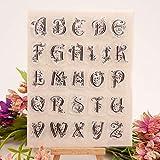 ECMQS Uppercase Letter DIY Transparente Briefmarke, Silikon Stempel Set, Clear Stamps, Schneiden Schablonen, Bastelei Scrapbooking-Werkzeug