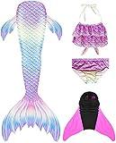 Flyhigh Meerjungfrauenschwanz Zum Schwimmen mit Meerjungfrau Flosse, Water Pink, 145-155cm (Herstellergröße S)