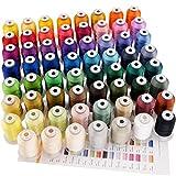 New brothread 63 Brother Farben Polyester Maschinen Stickgarn - 550yds (500 Meter) für Stickereimaschine und Nähmaschine