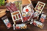 WURSTBARON® - Wurst Geschenk Koffer groß - mit 24 besonderen Salami Snacks und einer Wurst Kabeltrommel - Brezen, Herzen, Sterne, Pikanten und vieles mehr - 1027 g
