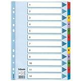 Esselte Kartonregister (1-12, A4, Karton, 12 Blatt) weiss