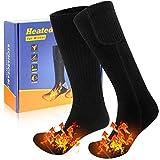 JBHOO 2020 Neu Beheizte Socken für Männer Frauen 3 Heizungseinstellungen Wiederaufladbare Elektrische Socken Winterwarme Baumwollsocken für Draussen Freien Angeln Motorradfahren Skifahren Freie Größe